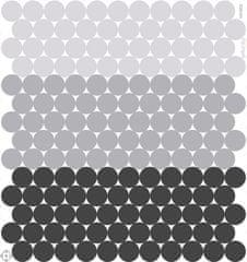 GEKONKY 154 puntíků - šedočerná kolekce