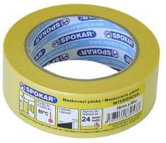 SPOKAR  maskovacia páska interiérová 75mmx50m - 24h/60°C
