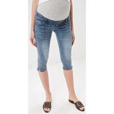 Mama.licious  Mama.licious rifľové tehotenské nohavice modrá