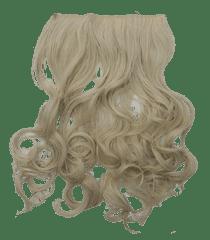 Vipbejba Flip-in/neviditeľné syntetické predĺženie vlasov, kučeravé, farba platinová blond F19