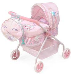 DeCuevas 86041 Moj prvi otroški voziček za punčke z nahrbtnikom in dodatki Ocean Fantasy