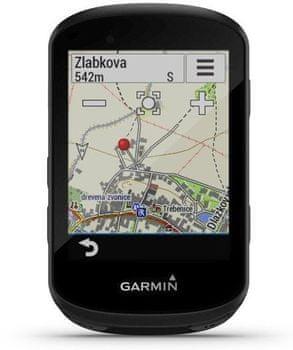 Garmin Edge 130 Pro kerékpáros GPS navigáció, Európa térképei, GPS, Glonass, Galileo, navigáció, útvonal újratervezése, vízálló, színes kijelző