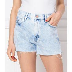 Tommy Jeans Tommy Jeans šortky Modro belasé