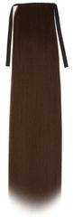 Vipbejba Syntetický cop s upevnením na suchý zips a clip-in, rovný, čokoládovo hnedý F3