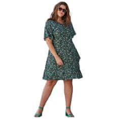 ZHENZI Zhenzi šaty čierna zelená