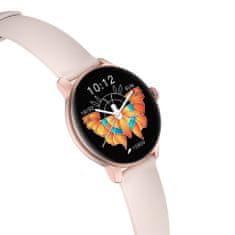 NEOGO SmartWatch Glam 3, rózsaszín