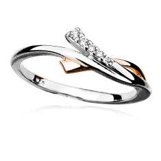 MOISS Krásny strieborný prsteň so zirkónmi R000093 striebro 925/1000