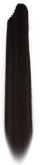 Vipbejba Syntetický cop so štipcom, rovný, čierny F1