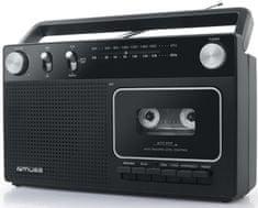 Muse M-152RC, přenosné rádio s kazetou