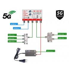 EVERCON anténní set pro 3 TV 838-101-6 5G pro DVB-T2