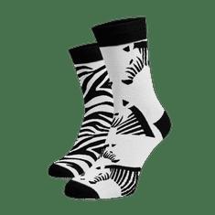 BENAMI Veselé ponožky Zebry Bílá Bavlna 35-38