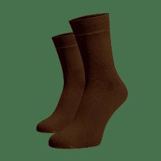 BENAMI Vysoké ponožky Tmavě hnědé Tmavě hnědá Bavlna 35-38