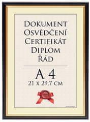 Tradag Rámeček Praha černý 21x29,7 - A4