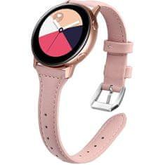 4wrist Slim kožený řemínek pro Samsung Galaxy Watch - Pink 20 mm