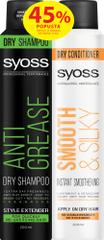 Syoss suhi šampon Anti-Grease, 200 ml + suhi regenerator Smooth & Silky, 200 ml