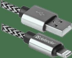 Defender Kabel ACH01-03T PRO USB2.0 Sivi, AM-LightningM, 1m, 2.1A