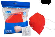 Jia Yuan 10ks Červených respirátorov FFP2, jednotlivo balené