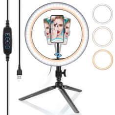 Manta MRL002 svetlobni obroč z namiznim stojalom za telefon