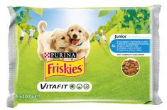 Friskies VitaFit JUNIOR z kurczakiem i marchwią w sosie 10x(4x100g)