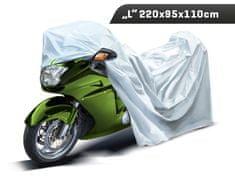 Carmotion Plachta na motocykel, veľkosť L, 220 x 95 x 110 cm, trojvrstvová s reflexnými prvkami, Carmotion