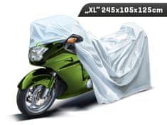 Carmotion Plachta na motocykel, veľkosť XL, 245 x 105 x 125 cm, trojvrstvová s reflexnými prvkami, Carmotion