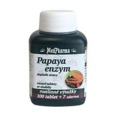 MedPharma Papaya enzým - cmúľanie pastilky bez cukru s príchuťou broskyne 100 tbl. + 7 tbl. ZD ARMA
