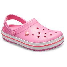 Crocs Dámské pantofle Crocband Pink Lemonade/White 11016-62P