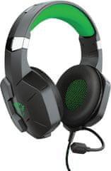 Trust Gaming Trust GXT 323X Carus (24324), čierna/zelená