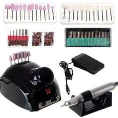 Beautylushh Profesionalni brusilni aparat za nohte (za manikuro in pedikuro) - black z LCD zaslonom