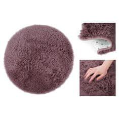 AmeliaHome Fialový kulatý koberec 120x120cm Karvag
