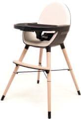 AT4 krzesełko do karmienia 2w1 ESSENTIEL PLUS CZARNY/PIASKOWY
