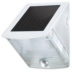 Brennenstuhl Solární LED nástěnné světlo s pohybovým PIR detektorem šedobílé Solárne 85lm