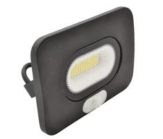 Tracon Electric LED SMD reflektor černý s čidlem 10W - neutrální bílá