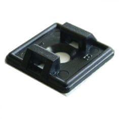 Tracon Electric Samolepící patice k stahovací pásce - černá 20x20mm 100 ks
