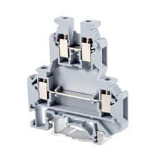 Tracon Electric Dvojnásobná řadová svorka pro fázový (L) vodič 0,2-4mm2
