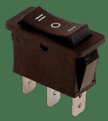 Tracon Electric Kolébkový přepínač 3-poloh. černý, 16A, 250V, I-0-II 5 ks