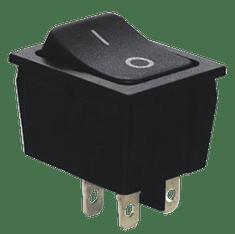 Tracon Electric Kolébkový vypínač ON-OFF, 2-poloh. černý, 16A, 250V, 0-I I P 40 5 ks