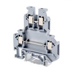 Tracon Electric Dvojnásobná řadová svorka pro fázový (L) vodič 0,2-2,5mm2