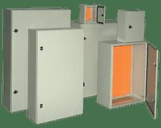 Tracon Electric Ocelově-plechová rozvodnice, šedá 400×400×250mm