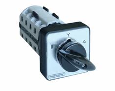 Tracon Electric Vačkový přepínač motoru hvězda-trojúhelník 25A 48×48mm