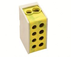 Tracon Electric Rozvodná odbočná svorka zeleno-žlutá 2×16mm2 / 2×16mm2
