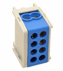 Tracon Electric Rozvodná odbočná svorka modrá 2×16mm2 / 2×16mm2