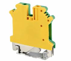 Tracon Electric Řadová svorka pro ochranný (PE) vodič 0,2-2,5mm2