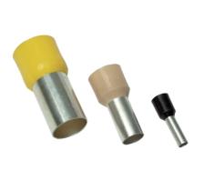 Tracon Electric Izolovaná kabelová dutinka žlutá 1mm2 / L=14,6mm 100 ks