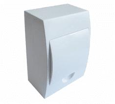 Tracon Electric Rozvodná skříň nadomítková s bílými dvířky 150×205×75mm