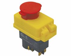 Tracon Electric Bezpečnostní tlačítka - hřibová hlavice