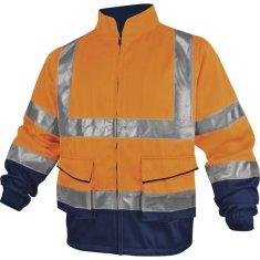 Delta Plus Reflexní pracovní bunda PHVES oranžová L