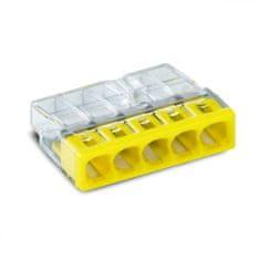 Wago Spojovací svorka bezšroubová - 5 vodičů 22x5,8x16,7mm 10 ks
