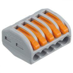 Wago Spojovací svorka zaklapávací - 5 vodičů 26,6x14,5x20,5mm 5 ks
