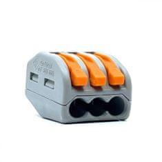 Wago Spojovací svorka zaklapávací - 3 vodiče 17x14,5x20,5mm 5 ks